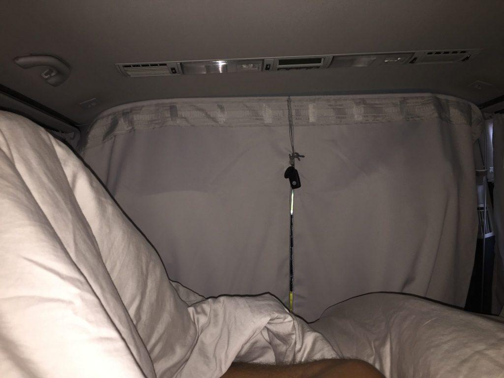 Schlafen im VW Multivan