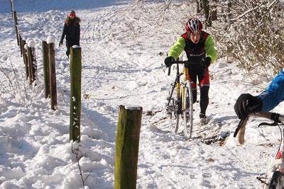 Rennradfahren im Winter