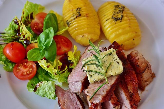 Steak-Salat