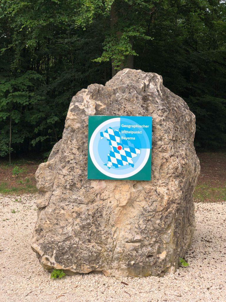 Geografischer Mittelpunkt Bayerns
