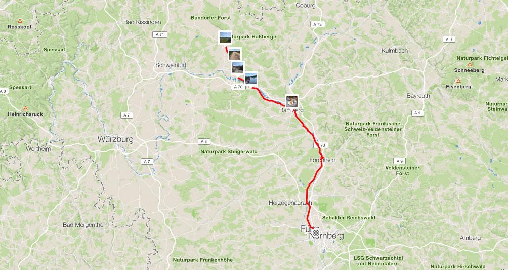 111km - Von Hofheim nach Nürnberg