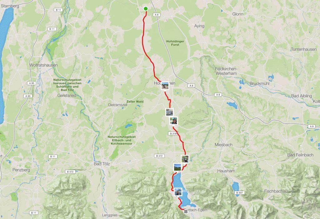 43 km Von Otterloh bis zum Tegernsee