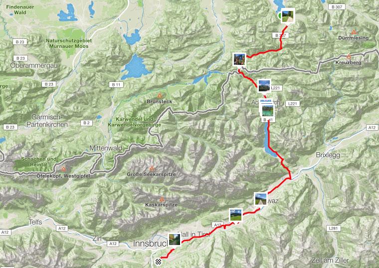 91 km vom Tegernsee nach Innsbruck
