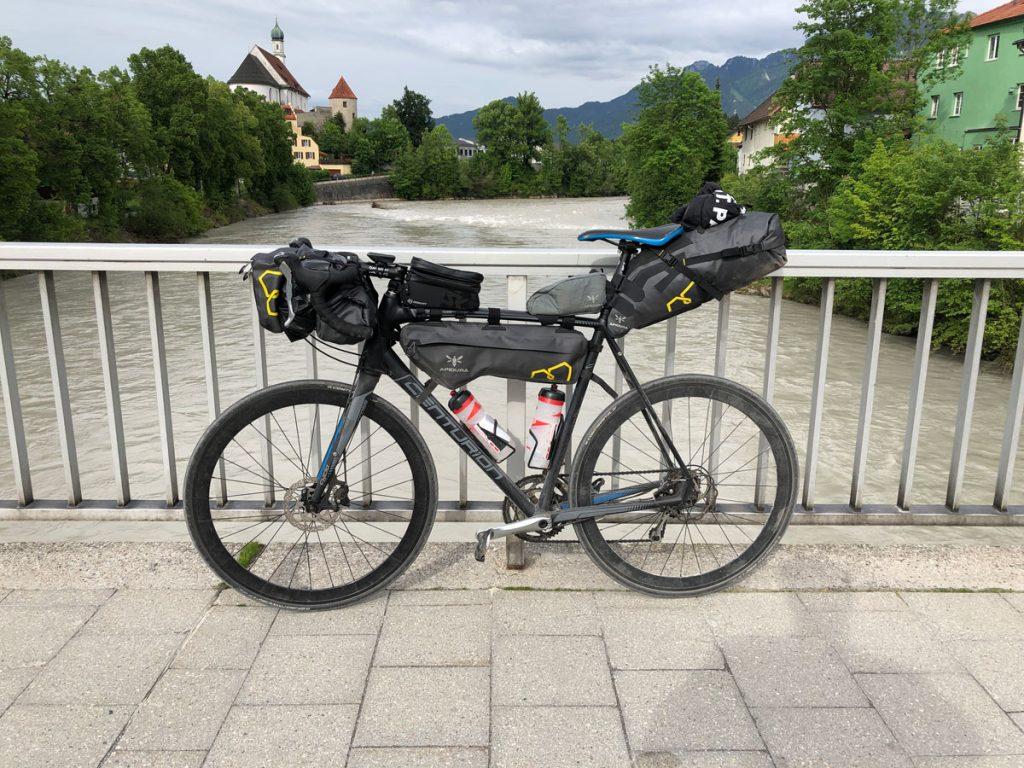 Das letzte Foto der Tour, mein Bikepacking-Rad