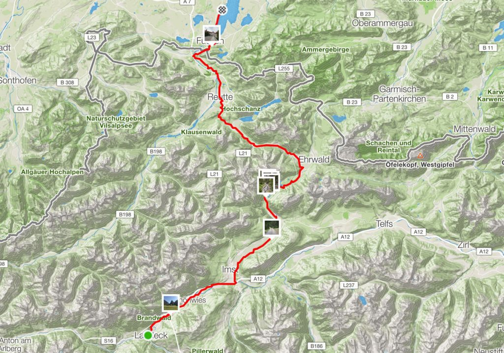 95 km von Landeck nach Füssen