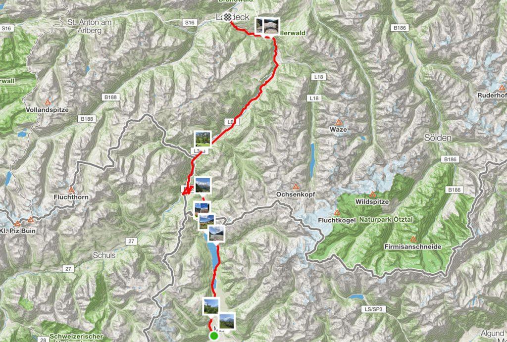 85 km von Mals nach Landeck