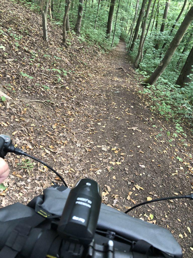 Singletrail mit dem Rennrad
