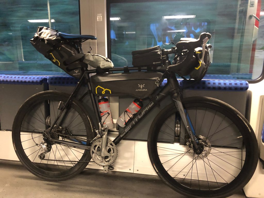 Fahrrad im Zug