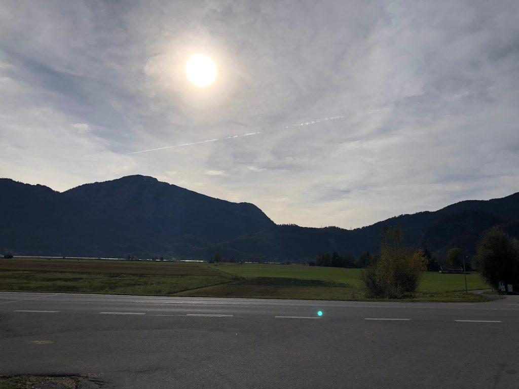 Über die Alpen kam ein warmer Föhn