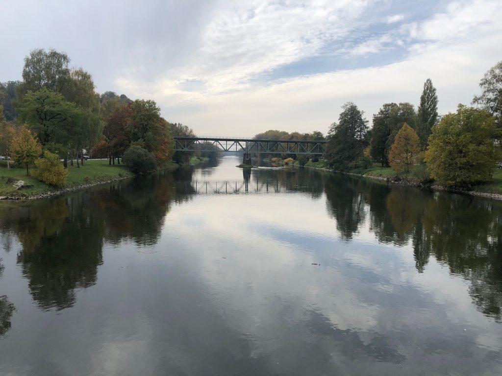 Die Isar in Landshut