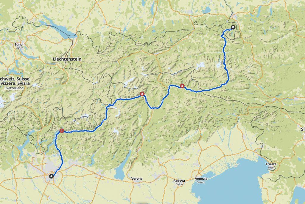 Erste Hälfte: Mailand bis Berchtesgarden