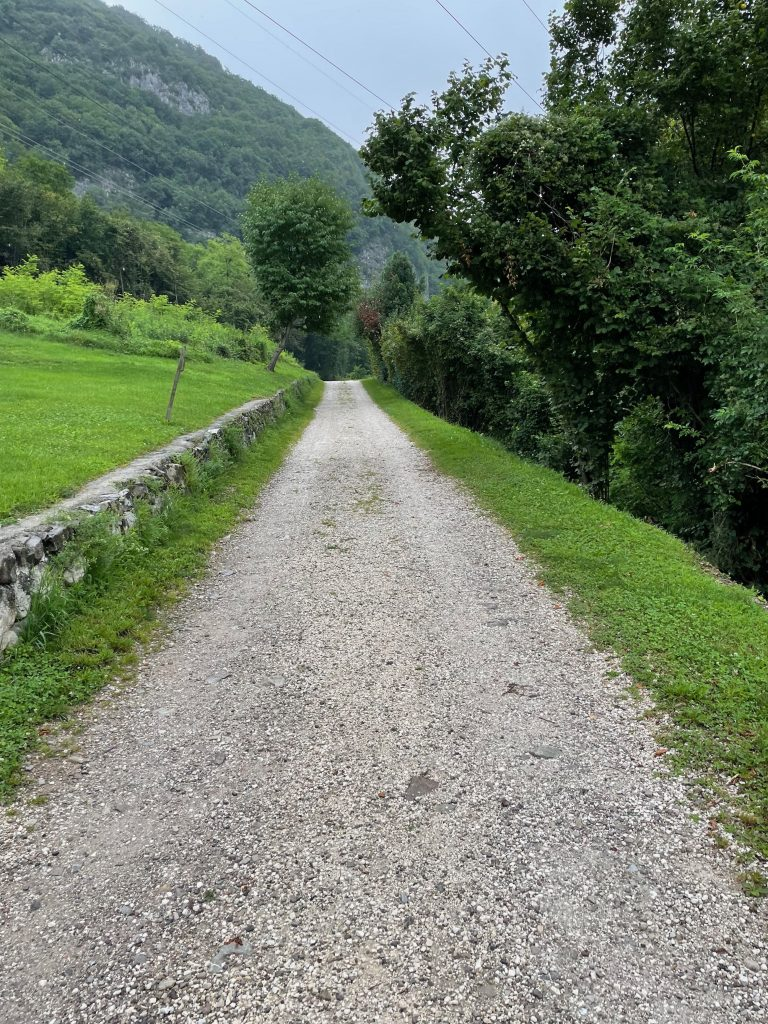 Gravel in den Dolomiten